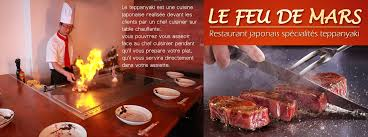restaurant japonais chef cuisine devant vous le feu de mars restaurant japonais teppanyaki 13eme