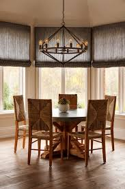 Philadelphia Hampton Bay 3 Light Chandelier With Transitional Dining Room Chairs And Window Shades
