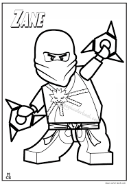 Ninjago Lego Coloring Pages Zane