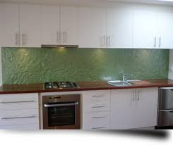 An Example Of A Textured Glass Kitchen Splashback