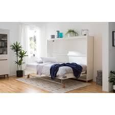 home24 mørteens schrankbett lindholm 140x200 cm spanplatte weiß