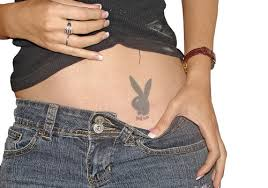 Groin Playboy Bunny Tattoo