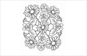 Flowers Mandala Coloring Page