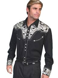 mens embroidered western shirts vintage retro plaid