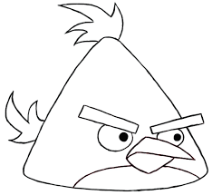 Free Angry Birds Space Coloring Pages To Print Chuck Yellow Bird