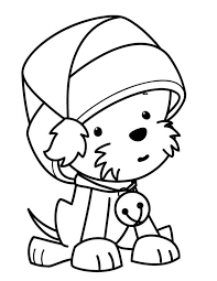 Christmas Dog Coloring Pages Free