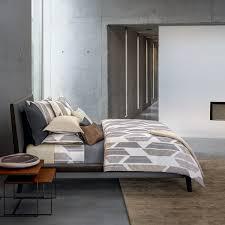 parure de lit hugo staccato zinc linge de lit haut de gamme