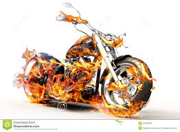 Fire Bike Stock Illustration. Illustration Of Headlight - 29166364