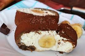 tiramisu quark rolle mit bananen rezept für dessert ohne