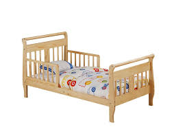 Wooden Toddler Bed with Rails Get Peaceful Tranquility with