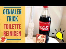 genialer trick toilette reinigen mit cola und backpulver