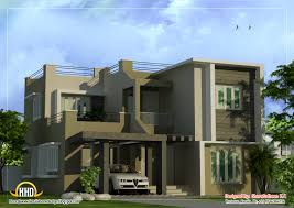 100 Contemporary Duplex Plans Modern Home Design Sq Ft Kerala House And