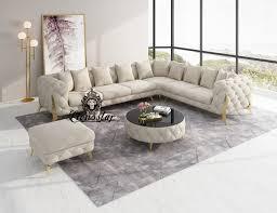 luxus designer wohnlandschaft l form loft stil honeycomb