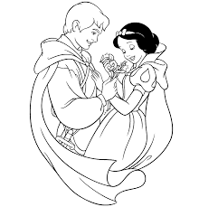 Snow White And The Seven Dwarfs Coloring Pages