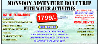 Book Monsoon Activities In Goa