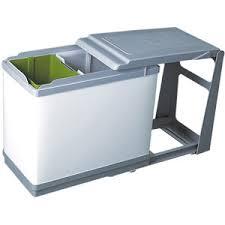 poubelle de cuisine coulissante monobac poubelles de cuisine bricotoo