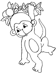 Monkey Coloring Pages 2 Page