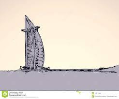 100 Burj Al Arab Plans Vector Drawing Stock Vector Illustration Of