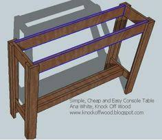 Ana White Sofa Table by Ana White Build A Updated Simplest Console Free And Easy Diy