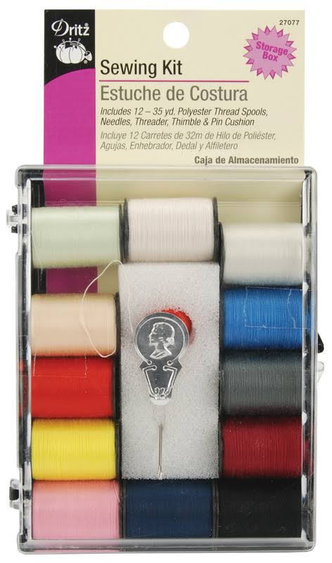 Dritz 27077 Sewing Kit - 12 Spool