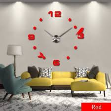 3D LARGE WALL CLOCK IN 10 AMAZING COLORS Unbranded Modern