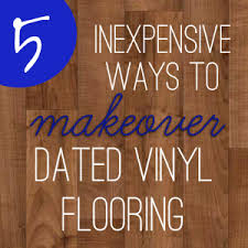 Laying Stone Tile Over Linoleum by 5 Inexpensive Ways To Update Dated Vinyl Flooring View Along The