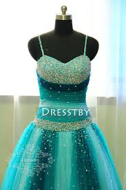 unique sweetheart neck tulle sequin green long prom gown sweet 16