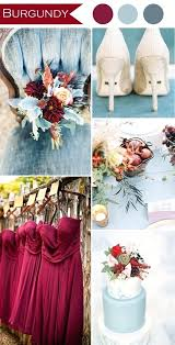 Wedding Decorations Colors Burgundy And Dusty Blue Rustic Color Ideas Reception