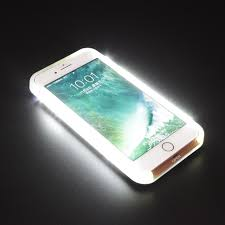 LED Selfie Light UP 1800 mAh Battery Charger Case For iPhone 5 5s