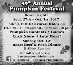 Nekoosa Pumpkin Fest 2017 by Annual Pumpkin Festival Bessemer Pumpkinfest Bessemer Mi