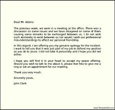 Apology letter a friend allowed imagine example letters of sorry