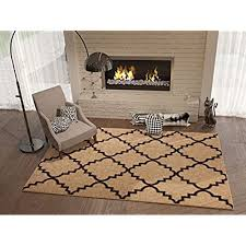 Ivory Shade 2x4 23 X 311 Area Rug Trellis Morrocan Modern Geometric Wavy Lines Living Dining Room Bedroom Kitchen Carpet Contemporary Soft