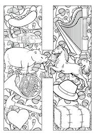 Full Image For Things That Start With H Free Printable Coloring Pages Letter Horse