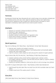 Hair Salon Receptionist Resume Template Best Design Tips Rh Myperfectresume Com Spa Example Job