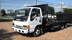 Lot 27- 1998 Isuzu NPR Landscape Truck- Starting Up And Moving - YouTube