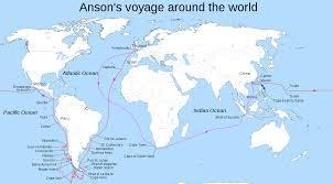 Hms Bounty Sinking Location by George Anson U0027s Voyage Around The World Wikipedia