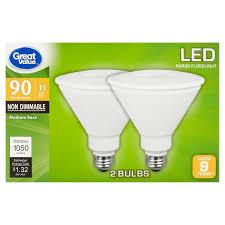 great value led par38 floodlight e26 light bulbs 11w 90w