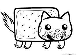Draw Zombie Nyan Cat Coloring Pages