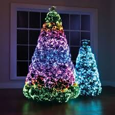 Fiber Optic Christmas Trees by The Northern Lights Christmas Trees Hammacher Schlemmer