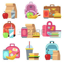 Foldable Lunch Containers Clipart For Preschoolers