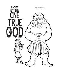 David And Goliath Coloring Page Childrens Ministry Deals