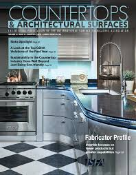 Larsens Fire Extinguisher Cabinets Leed by Isfa U0027s Countertops U0026 Architectural Surfaces Vol 9 Issue 4 Q4