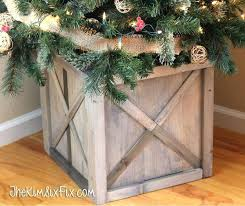 Best Tree Collar Ideas On Primitive Style Artificial Christmas Trees Stands