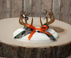 Deer Family Wedding Cake Topper Camouflage Buck Doe Hunting Bride And Groom