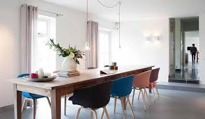 Contemporary Ideas Dining Room Table With Different Colored Chairs Use The Same Colors