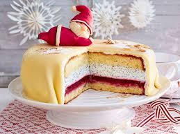 mohn marzipan torte mit nikolaus