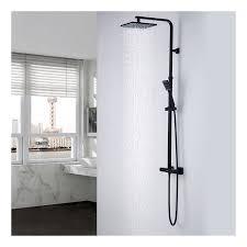 duschsystem mit thermostat duscharmatur regenduschset verstellbar duschsäule für badezimmer auralum