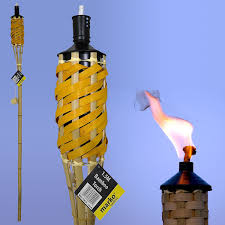 Citronella Oil Lamps Uk by 5ft 150cm Reusable Oil Burning Natural Bamboo Tiki Torch Garden