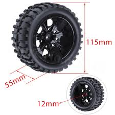 4Pcs/Lot 2.2 Inch RC 1/10 Monster Truck Tires Wheels Rims 12mm Foam ... Jconcepts Shows Off New Golden Year Monster Truck Tires Big Best Rated In Rc Vehicle Wheels Helpful Customer Reviews How To Get Into Hobby Car Basics And Truckin Tested Bigfoot No 1 The Original Ford F100 110 Scale Trucks Hit The Dirt Truck Stop New Release Blog 17mm Hex Dollar Hobbyz Madness 2 Shaving A Set Of Rc4wd Rumbles Squid 4pcs 32 Rubber 18 150mm For For Or Howto Remove From Rims Goolrc High Performance Wheel Rim Tire