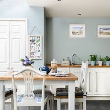 Duck Egg Blue Kitchen Extension Idea With White